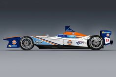 The iconic Gulf Oil livery is coming to Formula E starting this weekend - The Verge