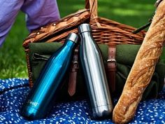 S'well reusable water bottles - Made of 18/8 stainless steel, non-toxic, non-leaching and BPA free. Insulated with double wall design. Cold drinks stay cold for 24 hours, hot drinks stay hot for 12. New Stone Collection is textured.
