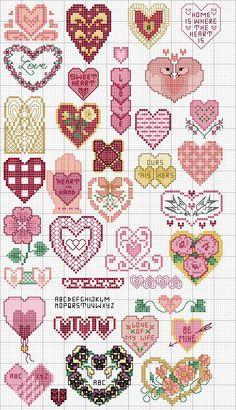 Corações variados