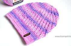 Duhová homeleska Pacific Chunky - www. Free Crochet, Knitted Hats, Crochet Patterns, Knitting, Tulip, Panda, Big, Tricot, All Free Crochet