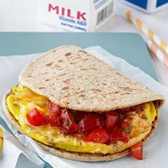 Tacos for breakfast? Yes please! Ideal for breakfast on-the-go, just wrap & run! Whip up a Mexican-style breakfast in minutes with this easy microwave breakfast taco – use a blend of Mexican cheeses and serve with salsa.
