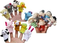 Black Friday 2014 Story Time Finger Puppets - 10 pcs Velvet Animal and 6 pcs Soft Plush Family Puppets With Bonus from La Demoiselle Cyber Monday Toddler Stocking Stuffers, Christmas Stocking Stuffers, Educational Toys For Toddlers, Toddler Activities, Toddler Toys, Baby Toys, Puppet Toys, Thing 1, Kid Party Favors