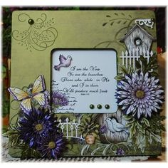 Gallery   Delicate Asters Altered Frame - Heartfelt Creations