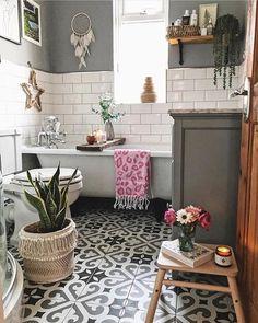 Our bathroom renovation, metro tiles, patterned floor tiles, Metro Tiles Bathroom, Bathroom Colors, Bathroom Tile Patterns, Metro Tiles Kitchen, Zen Bathroom Decor, Garden Bathroom, Kitchen Sink, Bathroom Ideas, Shower Ideas