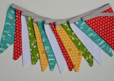Banner Fabric Bunting, Gender Neutral, Photography prop, Baby Girl Nursery Decor, Girls Room Decor, Playroom Decor, Anthology Fabric // Bobbin's Lullaby