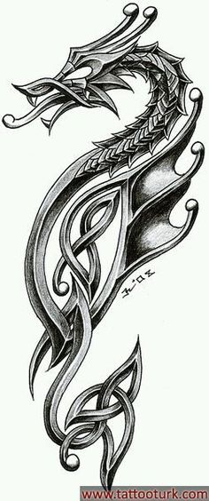 dragon in celtic style. i'm very satisfied inspiration - tattoo studio zagreb - zele celtic dragon 2 Chinese Tattoo Designs, Dragon Tattoo Designs, Celtic Cross Tattoos, Viking Tattoos, Viking Dragon Tattoo, Dragon Tattoo Forearm, Viking Tattoo Symbol, Body Art Tattoos, Cool Tattoos