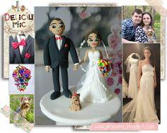 Deliciu Mic - Figurine de tort nunta mire si mireasa Bijuterii Handmade si Accesorii Handmade: CUTE - Figurine de tort pentru nunta - Mire s... Cake Toppers, Wedding Cakes, Victorian, Dresses, Fashion, Wedding Gown Cakes, Vestidos, Moda, Fashion Styles