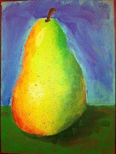 Angela Anderson Art Blog: Pear Paintings - Kids Art Class