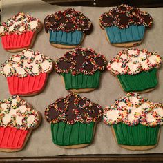 Cupcake cookies by The13thCookie