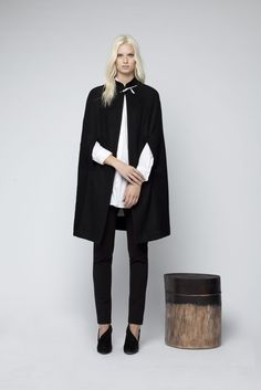 Wool/cashmere blend cape, Areca and the Rowen ponte skinny leg pant