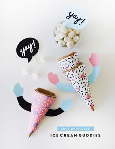 Ice Cream Cone Buddies | Oh Happy Day!