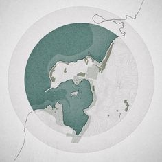 1 of 3 1:10000 plans of Risø, Roskilde Fjord // Rhino + illustrator + Photoshop