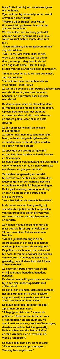Mark Rutte komt bij een - Zieer.nl