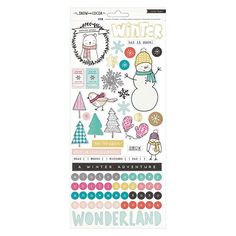 Crate Paper Snow and Cocoa Accents Stickers