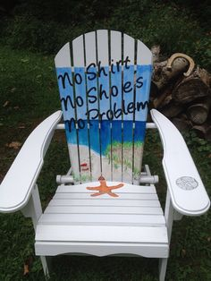 Adirondack Chair in Custom Colors and Designs. by beachchairsbyk, $235.00