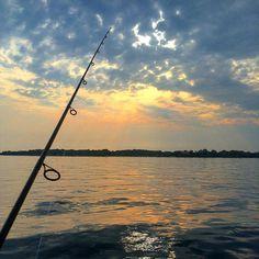 Gone Fishin'  #lakeminnetonka #minnesota #mn #exploremn #fishing #nature #summer #sunset #mnlakelife #fish #gonefishin #lakelife #lake #minnetonka #tonka #waves #sun #water #clouds