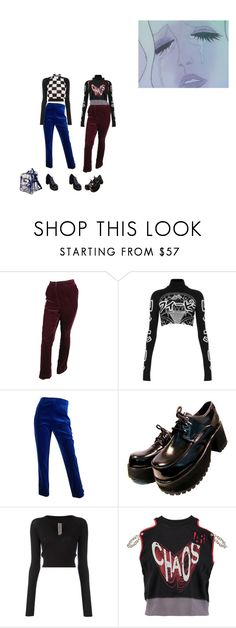 """""""DROP DOWN NOW"""" by rojinnn ❤ liked on Polyvore featuring Oscar de la Renta, Illustrated People, Chanel, Rick Owens, Vivienne Westwood Anglomania and Parisian"""