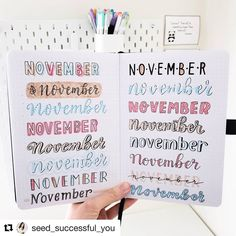 Best Bullet Journal Fonts and Headers for Every Month - The Smart Wander Bullet Journal Writing, Bullet Journal Headers, Bullet Journal Banner, Bullet Journal School, Bullet Journal Aesthetic, Bullet Journal Ideas Pages, Bullet Journal Inspo, Bullet Journal Layout, Bullet Journal November Ideas