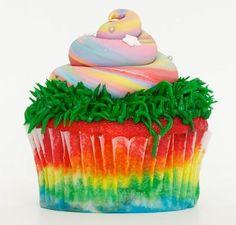 Unicorn poop cupcake - tehee!