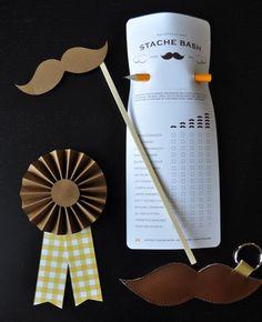 Moustache bash ballot and prize