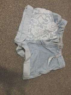 High waisted shorts   Diy  lace