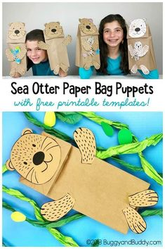 Quick and Easy Sea Otter Paper Bag Puppet Craft for Kids Sea Otter Paper Bag Puppet Craft for kIds with free sea otter and starfish templates! The post Quick and Easy Sea Otter Paper Bag Puppet Craft for Kids appeared first on Paper Diy. Animal Crafts For Kids, Crafts For Kids To Make, Preschool Crafts, Fun Crafts, Preschool Christmas, Christmas Crafts, Rock Crafts, Baby Crafts, Starfish Template
