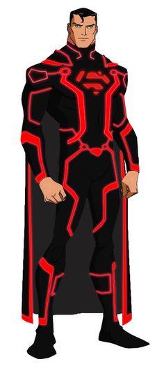TRON Superman by ShogoAmakuza.deviantart.com on @deviantART