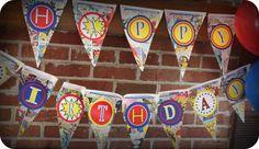 DIY Superhero Birthday Party Banner (FREE Printables & Tutorial)