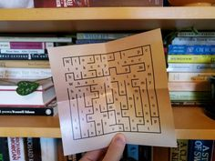 """I cracked the code: """"Go to the bookshelf."""" Now it looks like I have to do a maze. Birthday Gifts For Boyfriend, Boyfriend Gifts, Scavenger Hunt Clues, Some Fun, Party Games, Party Planning, Activities For Kids, Coding, Maze"""