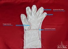 Le gant féminin - réalisation / The female glove - realization - Site de Cité d'Antan !