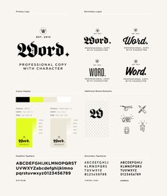 Word. by Passport , via Behance