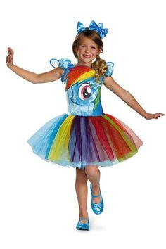 disguise hasbros my lil pony rainbow dash tutu prestige girls costume - Diaper Costume Halloween