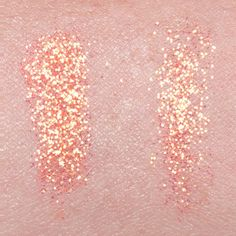 Lit Cosmetics Glitter Pigment Solar Blast S3 swatch on fair, light complexion.
