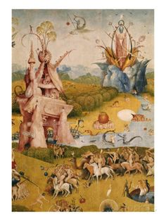 Garden of Earthly Delights, Detail par Hieronymus Bosch