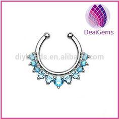 nath non piercing diamond fake nose ring