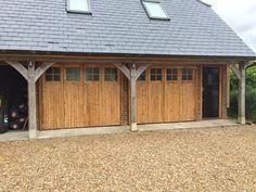 Bespoke wooden garage doors & timber garage doors in Poole, Dorset