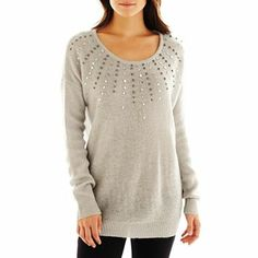 i jeans by Buffalo Studded Sweater - jcpenney