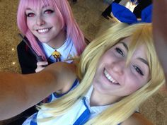 With my friend♡ #cosplay  #lucy #lucyheartfilia #lucycosplay #fairytail #hiromashima