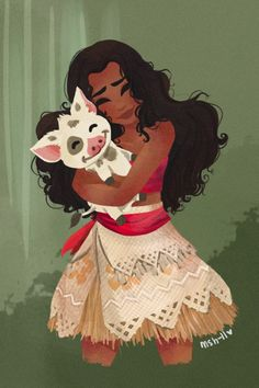 -Eu amo o meu porquinho fofo. ://> Moana