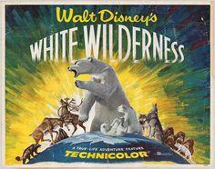 #WhiteWilderness, movie poster, 1958.