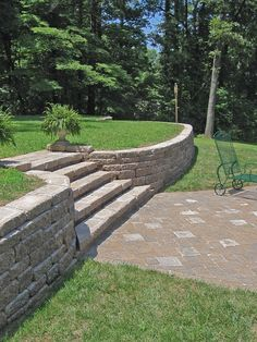 Check out this Midwest Block and Brick product --Retaining Walls --