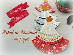 Reciclando con Erika : Arbolitos de Navidad hechos con papelitos de Cup C...