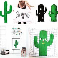 Let's hug a cactus  #juliastaite #xanderloukids #cactuspillow #cactuscushion #knuffels #softtoys #blackandwhite #green #sticky #blogpost #littlelovedonesblog #miniwilla