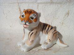 Vintage Tiger  Soviet Vintage Porcelain Tiger Cub by Astra9