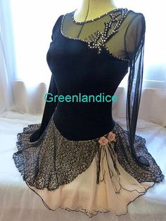 Ladies figure ice skating dresses by Greenlandice Figure Skating Outfits, Figure Skating Dresses, Jazz Costumes, Costumes For Women, Ballroom Dance Dresses, Dance Outfits, Indian Dresses, Dance Wear, Pretty Outfits