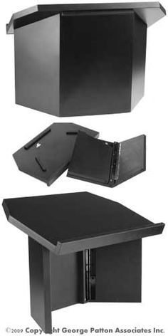 Folding lectern / tabletop podium for me to use at work so I'm not sitting all the time. Black Melamine $181.50. Red Mahogany Melamine $127.82. Maybe I'll get red and paint it. ;)