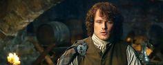 Sam Heughan in his Jamie Fraser costume. He is one breath-taking Highlander!