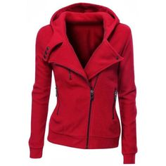 $16.59 Stylish Hooded Long Sleeve Zippered Slimming Women's Hoodie