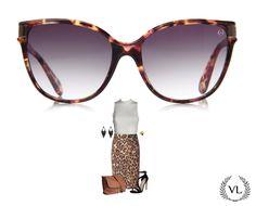 Óculos da Via Lorran com look de oncinha.