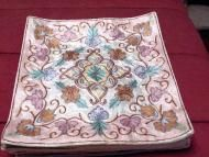 Price $20.00 - Embroidered Handmade pillow cover Pashmina silk on cotton - price includes FREE SHIPPING